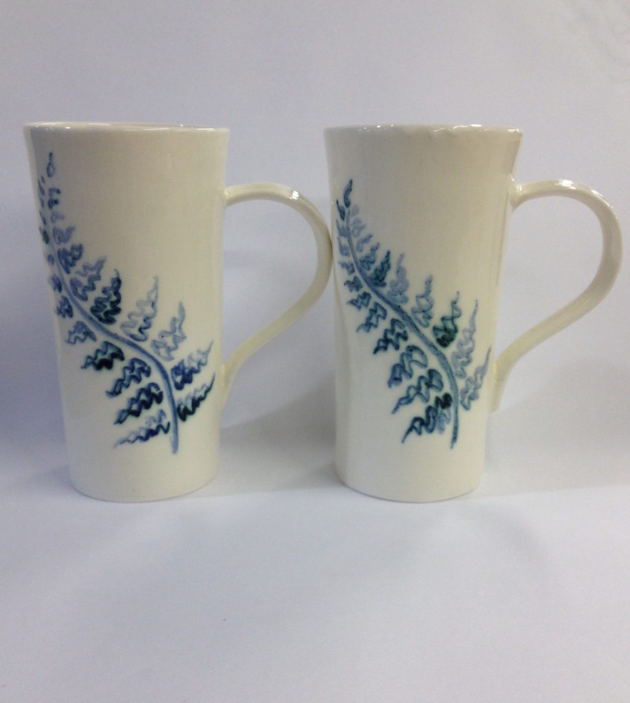 Slip-Cast Fern Mugs (Sold)