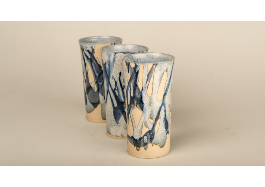 Slip-Cast Splash Vases (Sold)