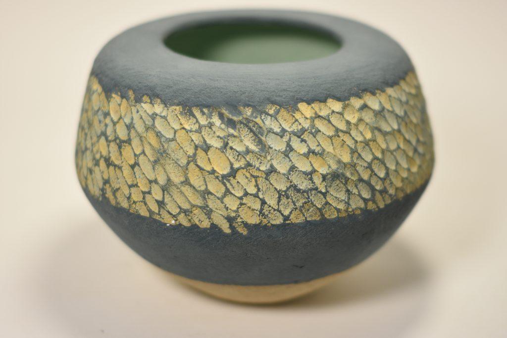 Engobe Glazed Vessel