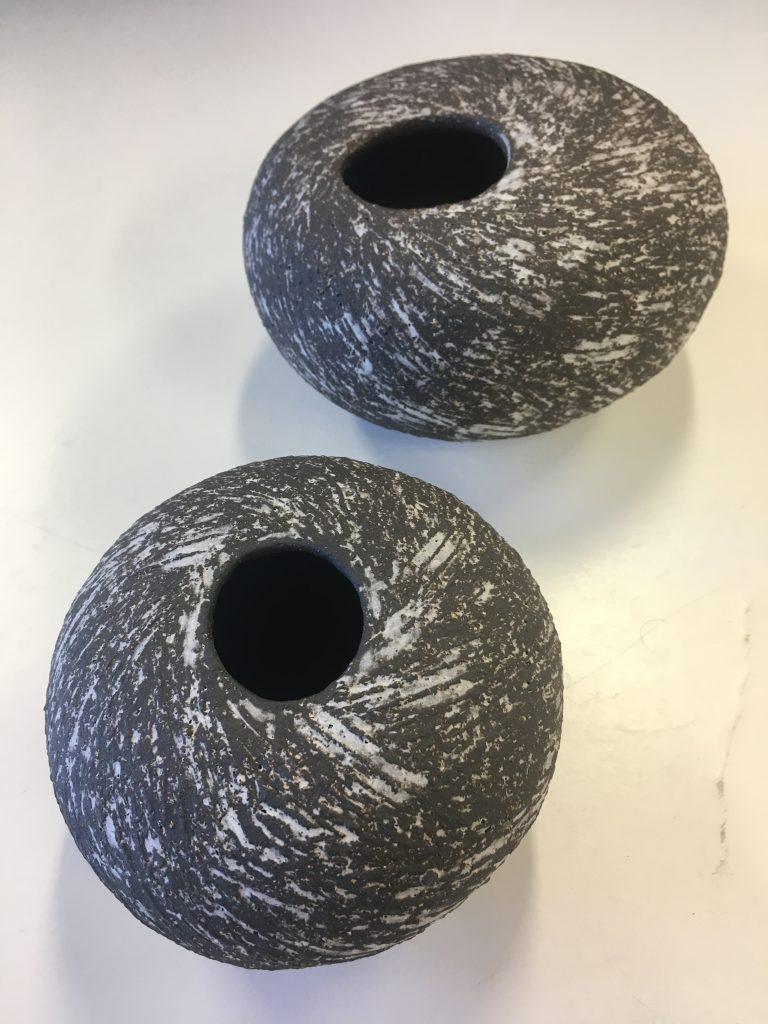 Black & White Swirl Pots