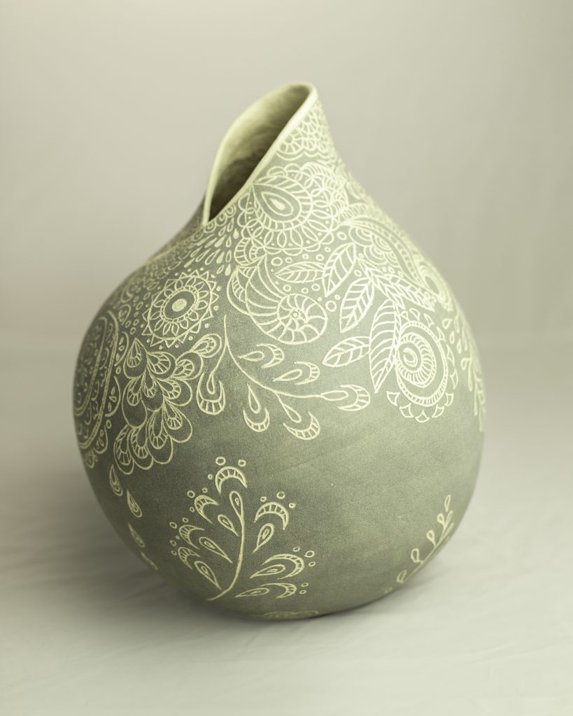 Grey Sgraffito Enfold 1 (2nd side))