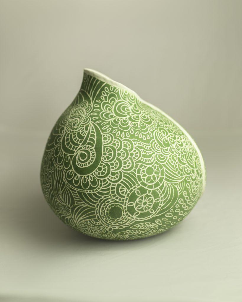 Green Sgraffito Enfold (side)