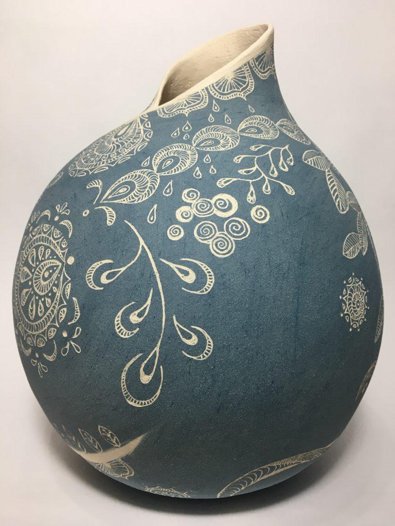 Cobalt Blue Large 'Enfolded' side